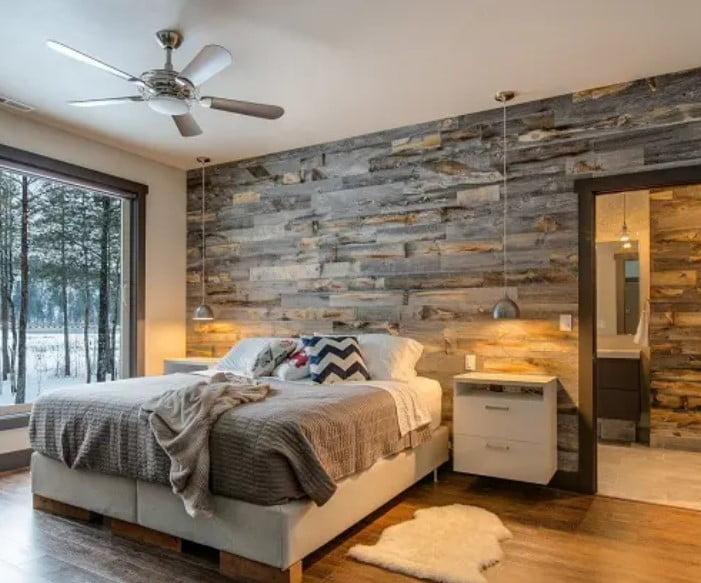 طراحی دیوار اتاق خواب سیمانی