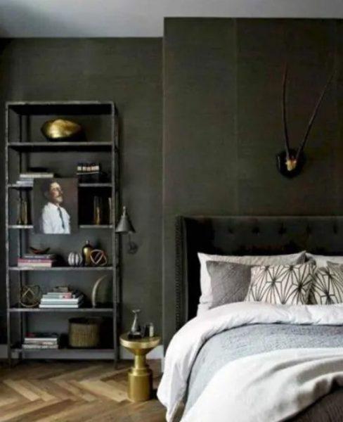 طراحی دیوار اتاق خواب مردانه