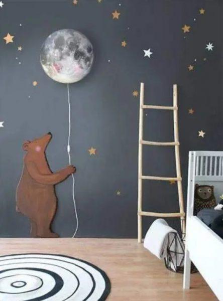 طراحی دیوار اتاق خواب کودک