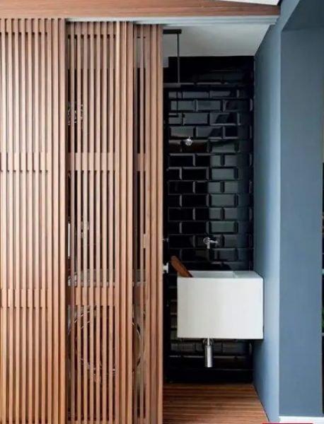 طراحی دیوار پارتیشن اتاق بصورت ریلی