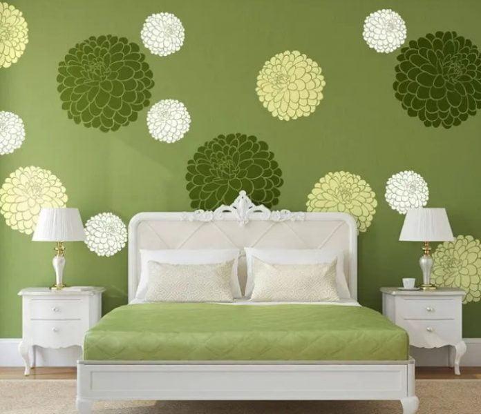 طراحی شابلون های دیوار اتاق خواب
