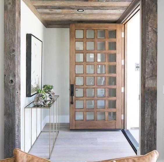 طراحی های درب ورودی طبیعی و زیبا