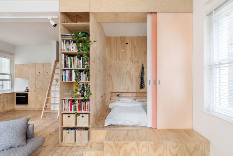 طراحی چوبی کمد مخفی