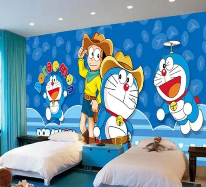 طراحی کارتونی دیوار اتاق خواب