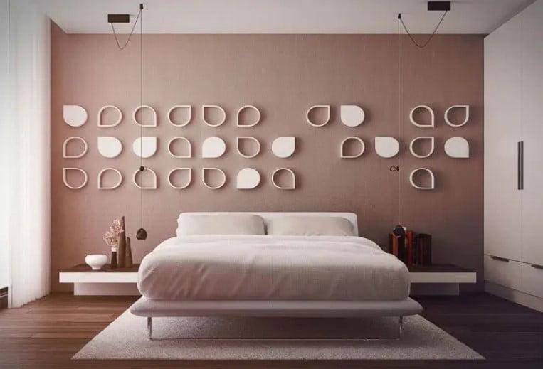طرح بافت دیوار برای اتاق خواب