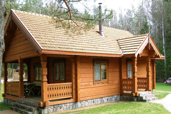 طرح هایی از ساختمان های چوبی