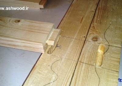 اتصال فاق و زبانه ، چوب کاج درجه یک روسی در تخت های سنتی