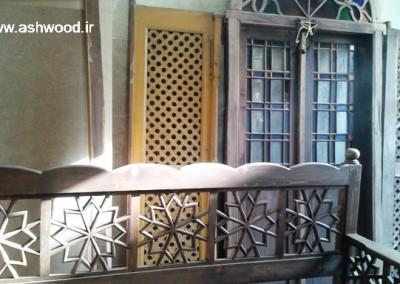 درب و پنجره سنتی چوبی ، هنر گره چینی و ارسی سازی