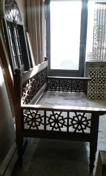 دکوراسیون سنتی چوبی ، تخت و مبلمان چوبی ایرانی ساخت هنرکده فن و هنر