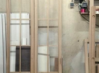 پنجره چوب بلوط امریکایی