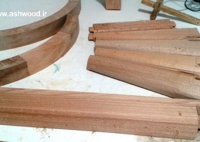دکوراسیون چوبی ، ساخت میز کنسول تمام چوب راش