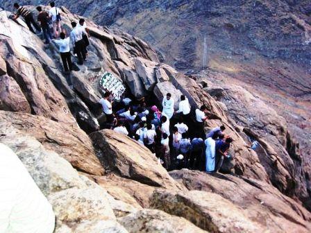 غار حرا در مکه کشور عربستان