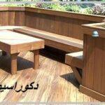میز و نیمکت ساخته شده از چوب ترمووود