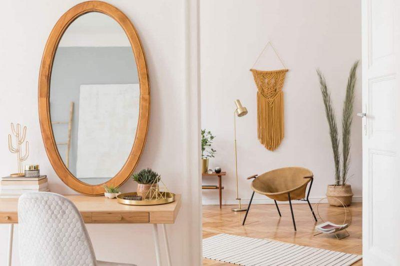 فضای شخصی با میز آرایش