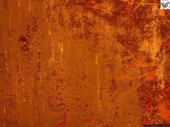 عکس تکسچر بافت فلز زنگ زده به رنگ قرمز رنگ