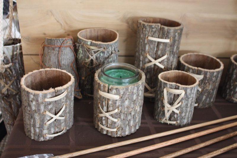 فنجان های چوبی
