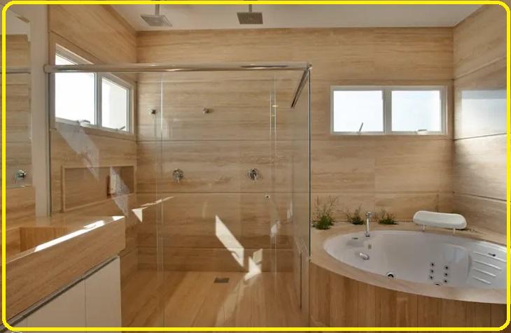 حمام تزئین شده باچوب سبک اسکاندیناوی