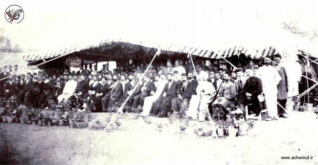تصویری از مراسم کلنگ زنی فیروز بهرام با حضور کیخسرو شاهرخ