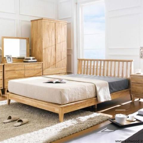 دکوراسیون اتاق خواب ساخته شده از فینگر جوینت رابروود