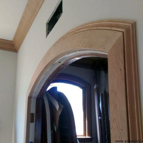 قاب چهارچوب درب چوبی