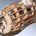قطعه ای از یک هواپیما ساخته شده از چوب بالسا