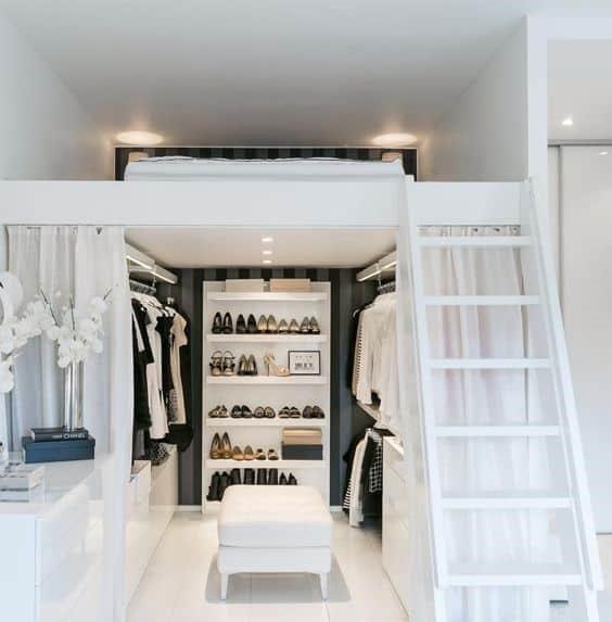 قفسه تخت خواب چوبی برای لباس زیر