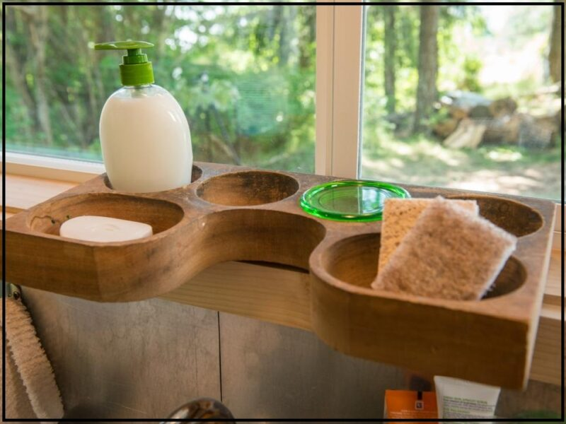 قفسه متحرک چوبی آشپزخانه , آشپزخانه کوچک , هک دکوراسیون