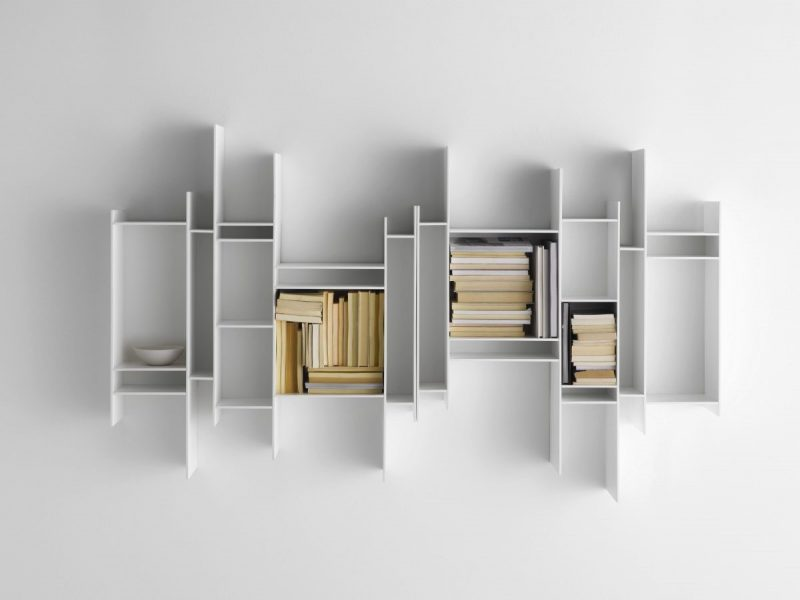 قفسه های دیواری سفید