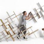 قفسه های دیواری چوبی