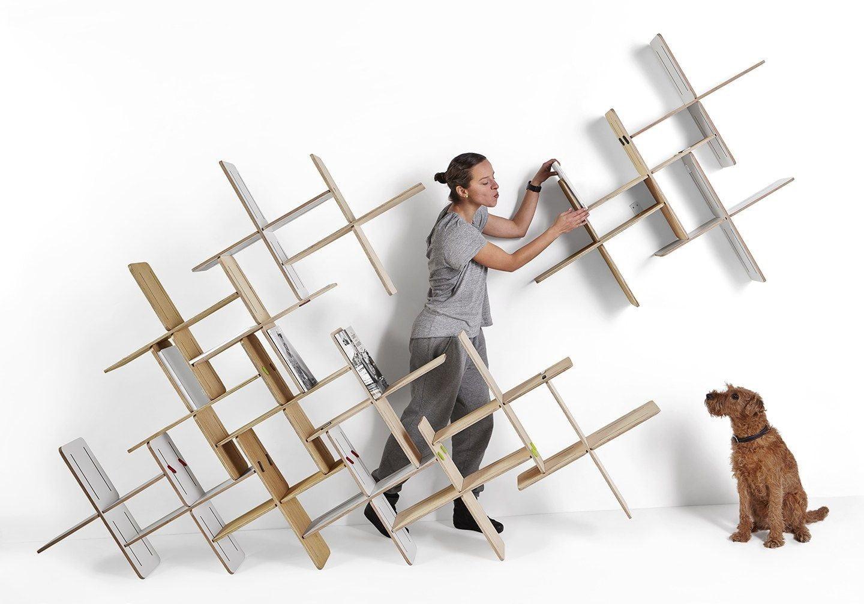 قفسه های دیواری چوبی قابل تنظیم