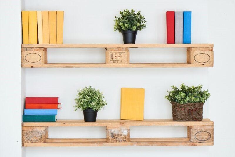 قفسه های چوبی برای طراحی راهروها