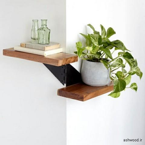 قفسه چوبی دیواری , دکوراسیون چوبی