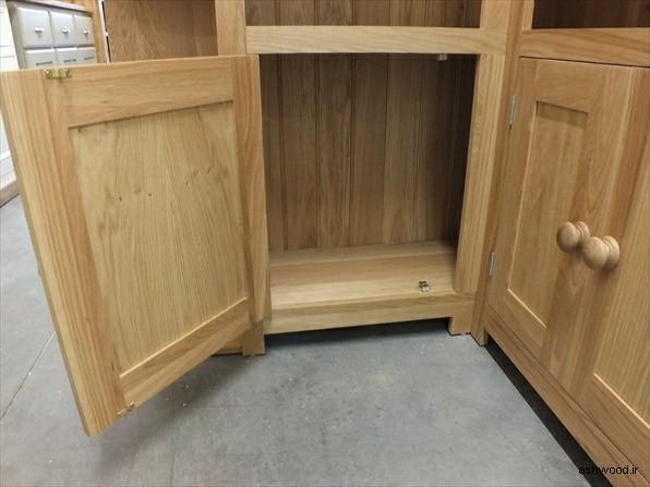 قفسه و کتابخانه چوبی