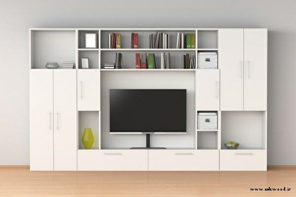 دیوار تلویزیون , قفسه بندی چوبی دیوار