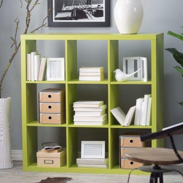 قفسه کتاب مکعبی