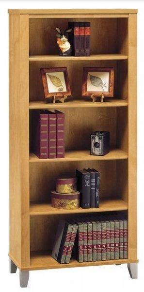 قفسه کتاب چوبی