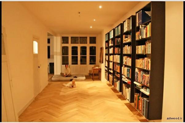 18 ایده  قفسه کتاب هوشمند , دکوراسیون چوبی کتابخانه