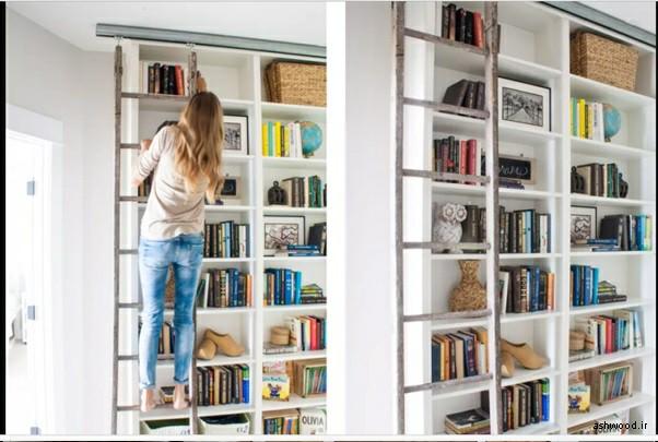 قفسه کتاب و کتابخانه هوشمند