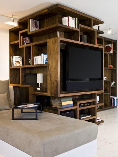 قفسه گوشه ای برای فضاهای بزرگ