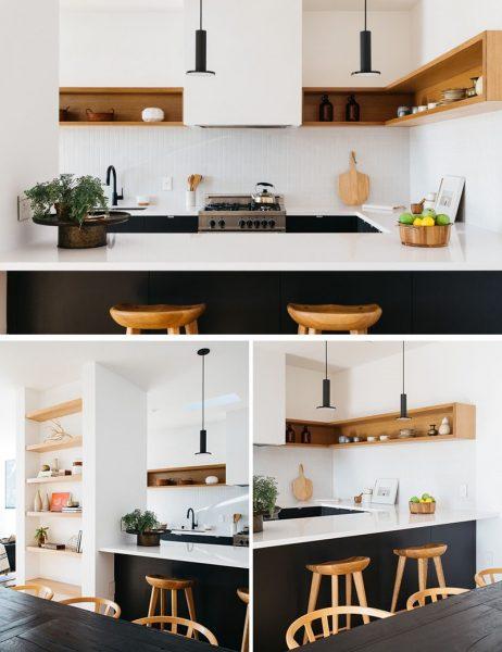 قفسه گوشه ای در آشپزخانه