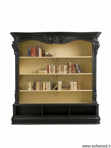 قفسه ی کتاب چوبی , مدل کتابخانه و دکوراسیون چوبی