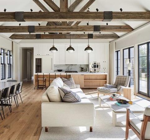 تاثیر سقف چوبی و استفاده از تیرهای چوبی بر کیفیت فضا