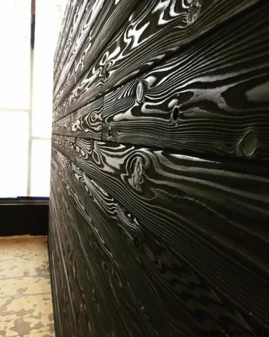 دیوارکوب چوب کاج , لمبه چوب طبیعی