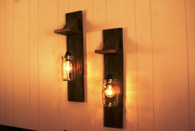 لوستر دیوارکوب چوبی , دکوراسیون داخلی