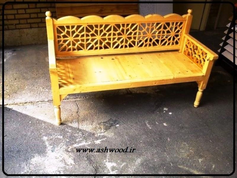 مبلمان سنتی چوبی تخت باغی 07