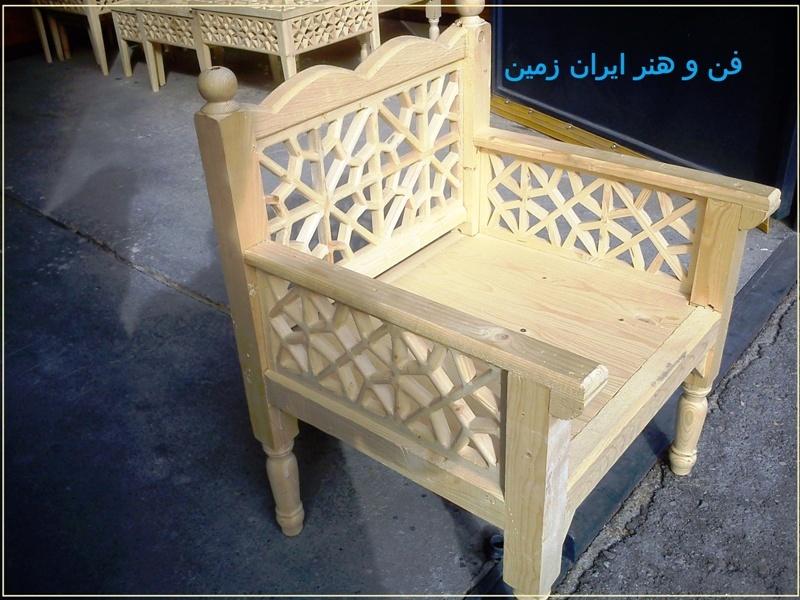 مبلمان سنتی چوبی تخت باغی 10