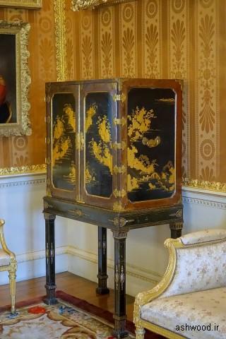 کابینت ژاپنی ، (یکی از جفت ها) - اتاق نقاشی دارچین - Harewood House