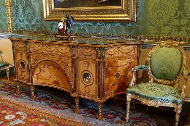 دیانا و مینروا کمود ، 1773 ، چوب ماهون و جنگل های عجیب و غریب ، اتاق خواب دولتی - Harewood House
