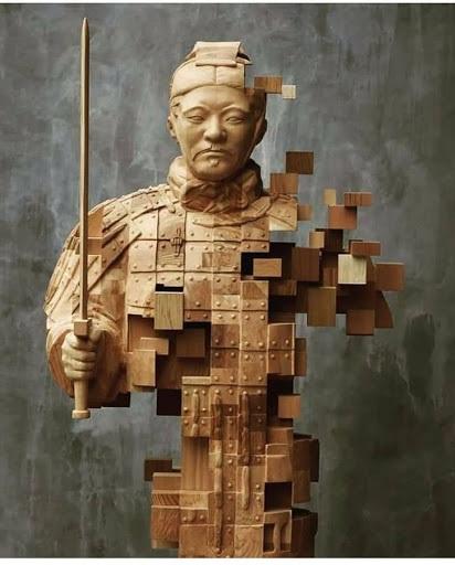 مجسمه چوبی پیکسلی