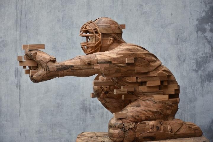 مجسمه چوبی سبک معاصر